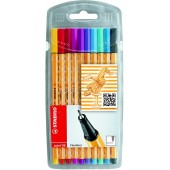 FINELINER POINT 88 SET 10 PZ. STABILO