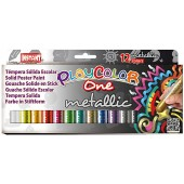COLORE A TEMPERA SOLIDA Playcolor ONE METALLIC SCAT.12 INSTANT