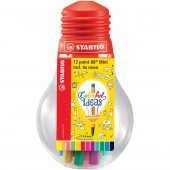 FINELINER POINT 88 MINI LAMPADINA 12 PZ. COLORFUL IDEAS STABILO