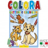 ALBUM DA COLORARE CAGNOLINI E GATTINI