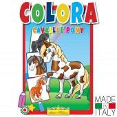 ALBUM DA COLORARE CAVALLI E PONY